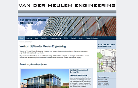 Portfolio-thumbnail project Van der Meulen Engineering